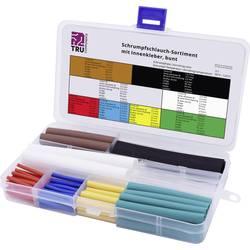 Sada zmršťovacých bužírok TRU COMPONENTS T1807CA005, 3:1, červená, modrá, žltá, zelená, priehľadná, hnedá, biela, čierna, 118 dielov