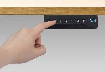 Bedienelement bei höhenverstellbaren Schreibtischen