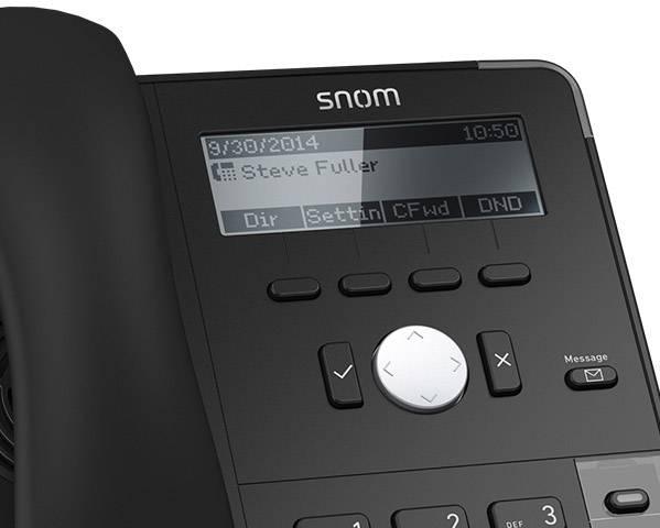 SNOM D712 Schnurgebundenes Telefon, VoIP PoE LC Display Schwarz