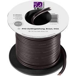 Lanko/ licna TRU COMPONENTS SH1466, 2 x 0.75 mm², černá, 20 m