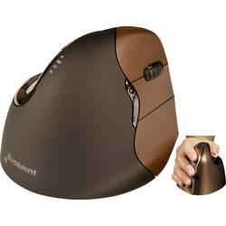 Optická ergonomická myš BakkerElkhuizen Evoluent 4 Small BNEEVR4SW, ergonomická, hnedá