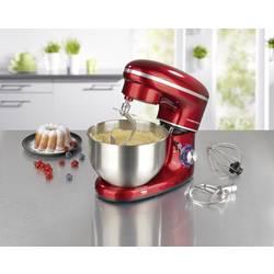 Kuchynský robot GourmetMaxx 03440, 1500 W, červená, nerezová oceľ
