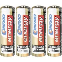 Tužková batéria typu AA lítiová Conrad energy Extreme Power FR6, 2900 mAh, 1.5 V, 4 ks