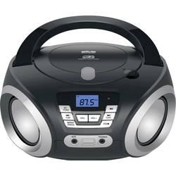 FM rádio s CD prehrávačom Silva Schneider PCD 19.1, AUX, CD, čierna