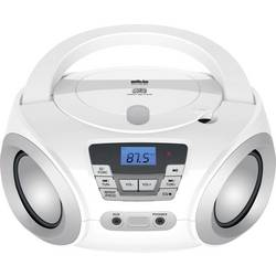 FM rádio s CD prehrávačom Silva Schneider PCD 19.1, AUX, CD, biela