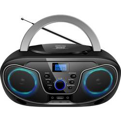 FM rádio s CD prehrávačom Silva Schneider MPC 19.4 USB, AUX, CD, USB, čierna/strieborná