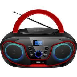 FM rádio s CD prehrávačom Silva Schneider MPC 19.4 USB, AUX, CD, USB, čierna/červená