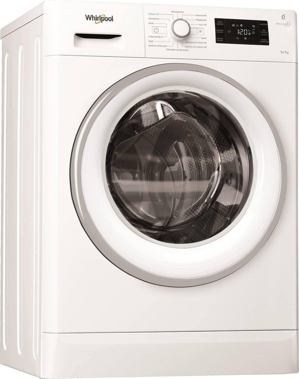 Waschtrockner Whirlpool FWDG97168WS EEK: A (A+++ - D) 1600 U/min