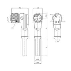 Pripojovací kábel pre senzory - aktory Lutronic 1210 1206 04 L2 002 5m 1158, 1 ks