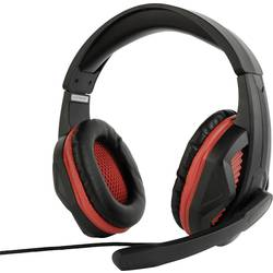 Gembird GHS-03 herný headset jack 3,5 mm káblový cez uši čierna, červená