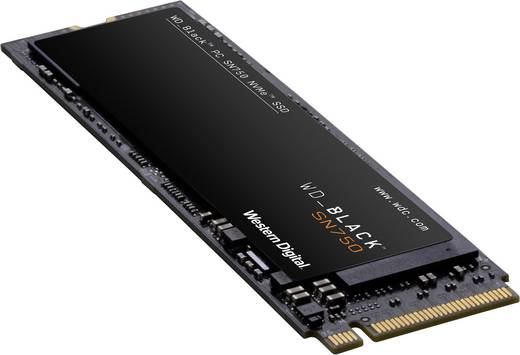Western Digital WDS500G3X0C-00SJG0 Interne NVMe/PCIe M.2 SSD 500 GB Black™ SN750 High-Performance Gaming Retail PCIe 3.0
