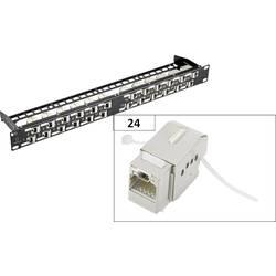 Sieťový Patchpanel Renkforce KS10, 24 portů, CAT 6A, 1 HE