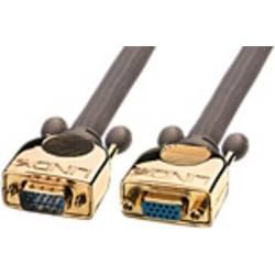 VGA predlžovací kábel Deluxe LINDY 37836, antracitová
