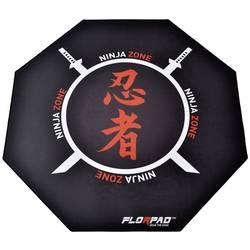 Image of Florpad™ FM_Ninja Fußbodenschutz Schwarz, Rot, Weiß