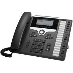 Systémový telefon, VoIP Cisco CP-7861-3PCC-K9= LCD displej antracitová