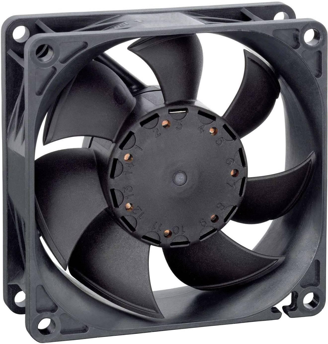 NMB Minebea 3110KL-05W-B50 Axiallüfter 24 V//DC 66 m³//h 80 x 80 x 25 L x B x H