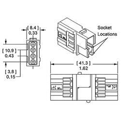 Image of Hochstrom-Batteriesteckverbinder für 15 - 45 A Gelb APP Inhalt: 1 St.