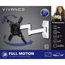 """TV držák na zeď Vivanco BFMO 6020 W, naklápěcí + nakláněcí, 81,3 cm (32"""") - 109,2 cm (43"""")"""