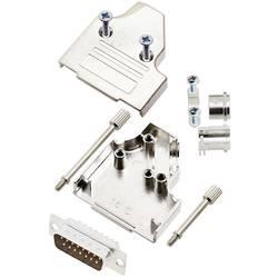 Sada D-SUB kolíkové lišty TRU COMPONENTS TCMHDM3515DBPK, 35 °, Pólov 15, spájkovaný, 1 ks