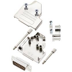 Sada D-SUB kolíkové lišty TRU COMPONENTS TCMHDM3515DMPK, 35 °, Pólov 15, spájkovaný, 1 ks