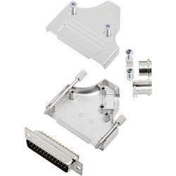 Sada D-SUB kolíkové lišty TRU COMPONENTS TCMHDM3525DBPK, 35 °, Pólov 25, spájkovaný, 1 ks
