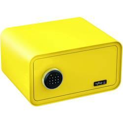 Trezor, bezpečnostní trezor Basi 2018-0001-ZG, na heslo, na klíč, citrónově žlutá