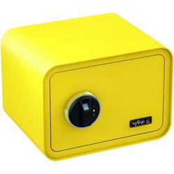 Trezor, bezpečnostný trezor Basi 2018-0002-ZG, zámok s odtlačkom prsta, na kľúč, citrónovo žltá