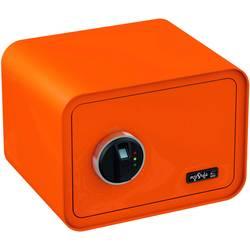 Trezor, bezpečnostný trezor Basi 2018-0002-O, zámok s odtlačkom prsta, na kľúč, oranžová