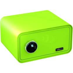 Trezor, bezpečnostný trezor Basi 2018-0003-AG, zámok s odtlačkom prsta, na kľúč, jablkovo zelená