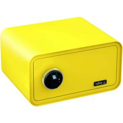 Bezpečnostný trezor Basi 2018-0003-ZG, zámok s odtlačkom prsta, na kľúč, citrónovo žltá