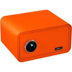 Trezor, bezpečnostný trezor Basi 2018-0003-O, zámok s odtlačkom prsta, na kľúč, oranžová