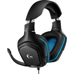 Logitech Gaming G432 herný headset jack 3,5 mm káblový cez uši čierna, modrá