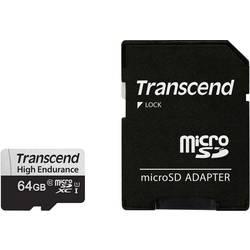 Pamäťová karta micro SDXC, Transcend High Endurance 350V, Class 10, UHS-I, vr. SD adaptéru