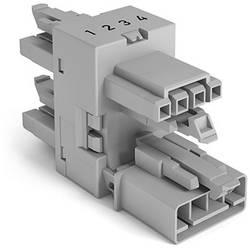 Rozvodný blok 3násobný WAGO Počet kontaktov: 4, 16 A, 400 V, sivá, 50 ks