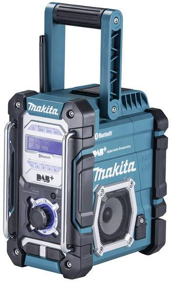 Makita DMR112 Baustellenradio DAB+, UKW AUX, Bluetooth®, USB spritzwassergeschützt Türkis, Schwarz