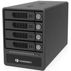 Puzdro na pevný disk SATA 2.5 palca, 3.5 palca RAIDON GR4670-TB3, Thunderbolt 3, čierna, modrá