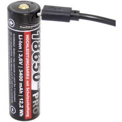 Speciální akumulátor kraftmax Pro USB, 18650, Li-Ion akumulátor, 3.6 V, 3350 mAh