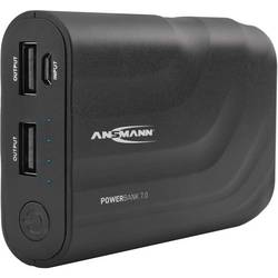 Powerbanka Ansmann PB7, Li-Ion akumulátor, 6600 mAh, čierna