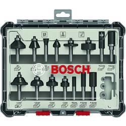 Image of 15 tlg. Mixed Fräser Set 8mm Schaft Bosch Accessories 2607017472