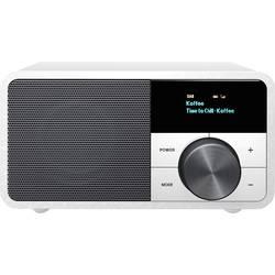 DAB+ stolné rádio Sangean Genuine Mini DDR-7, AUX, Bluetooth, UKW, strieborná