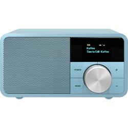 DAB+ stolné rádio Sangean Genuine Mini DDR-7, AUX, Bluetooth, UKW, tyrkysová