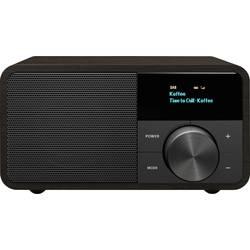 DAB+ stolné rádio Sangean Genuine Mini DDR-7, AUX, Bluetooth, UKW, tmavohnedá