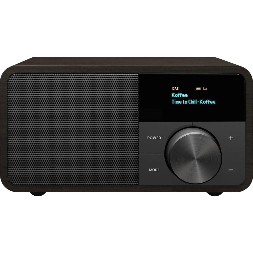 Sangean Genuine Mini DDR-7 Tafelradio DAB+, FM AUX, Bluetooth Donkerbruin
