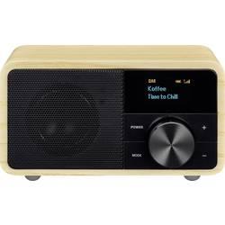 DAB+ stolné rádio Sangean Genuine Mini DDR-7, AUX, Bluetooth, UKW, drevo
