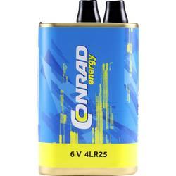 Špeciálny typ batérie 4LR25 pružinový kontakt alkalicko-mangánová, Conrad energy 4LR25X, 16000 mAh, 6 V, 1 ks