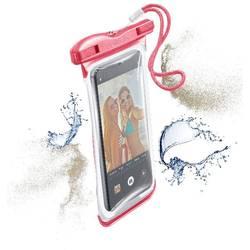 """Taška na mobil s okienkom Cellularline VOYAGER N/A na mobil s rozmerom 14,5 cm (5,7"""") , ružová"""