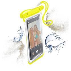 """Taška na mobil s okienkom Cellularline VOYAGER N/A na mobil s rozmerom 14,5 cm (5,7"""") , žltá"""