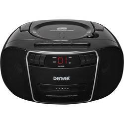 FM rádio s CD prehrávačom Denver TCP-40, AUX, CD, kazeta, čierna