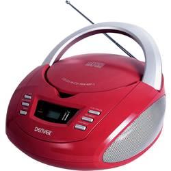 FM rádio s CD prehrávačom Denver TCU-211, AUX, USB, CD, červená