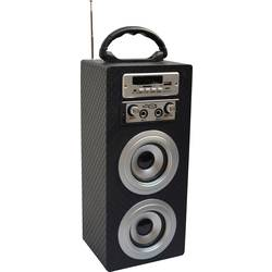 Bluetooth® reproduktor MSA Musikinstrumente KBQ33 AUX, FM rádio, SD, USB, karbón